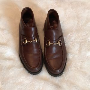 Gucci high cut loafers